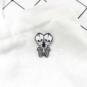 ‼️5 for $25 SALE‼️Two Headed Skeleton Enamel Pin